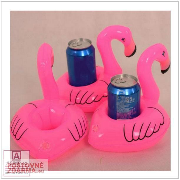 Nafukovací držák na nápoje - Plameňák / dnk-13-00351