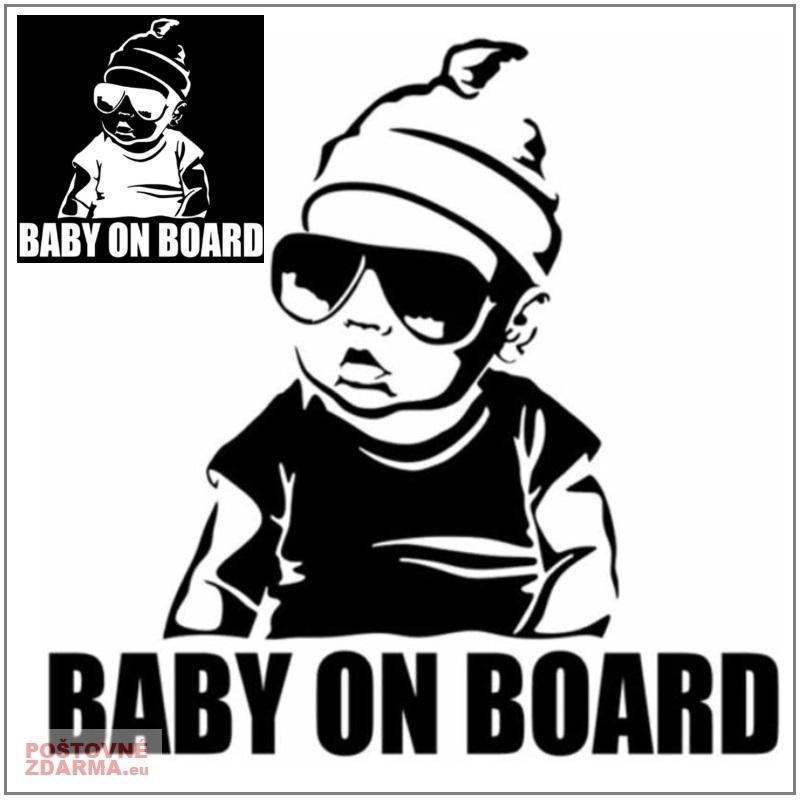 Samolepka na auto - Dítě v autě / XT-00518