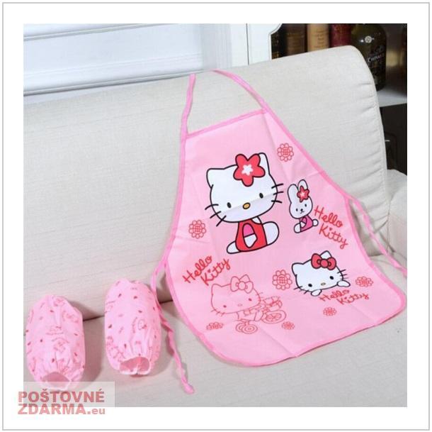 Zástěra & rukávníky - Hello Kitty / dnk-13-00920