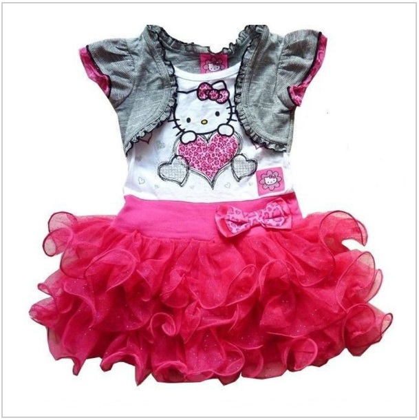 4b69c611ad76 Dětské šaty - Hello Kitty   dnk-13-00996