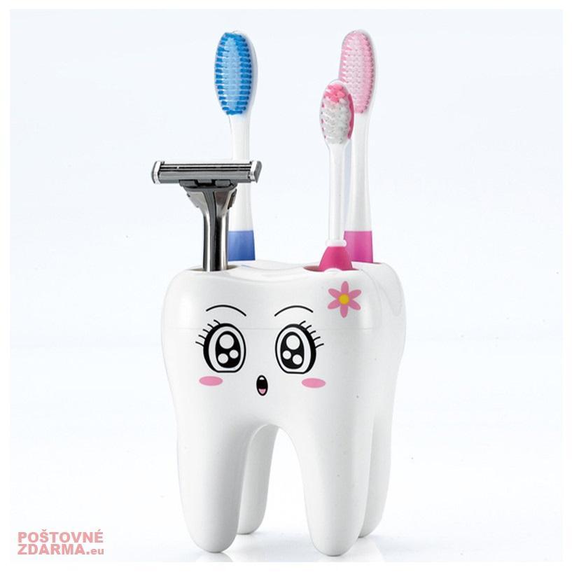 Držák na zubní kartáčky - Zub / tnk-13-02128