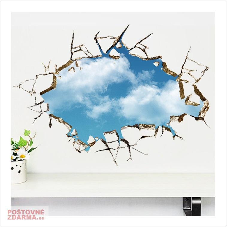 Dekorace na zeď - Díra do stropu / tnk-13-02555