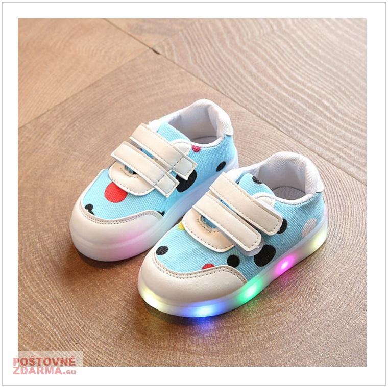 d2246e96c98 Dětské svítící boty - modré   AD-00213a   DOPRAVA ZDARMA