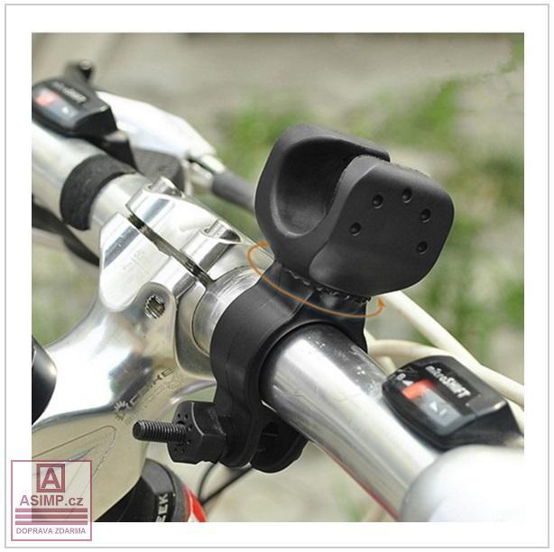 Rotační držák světla na kolo