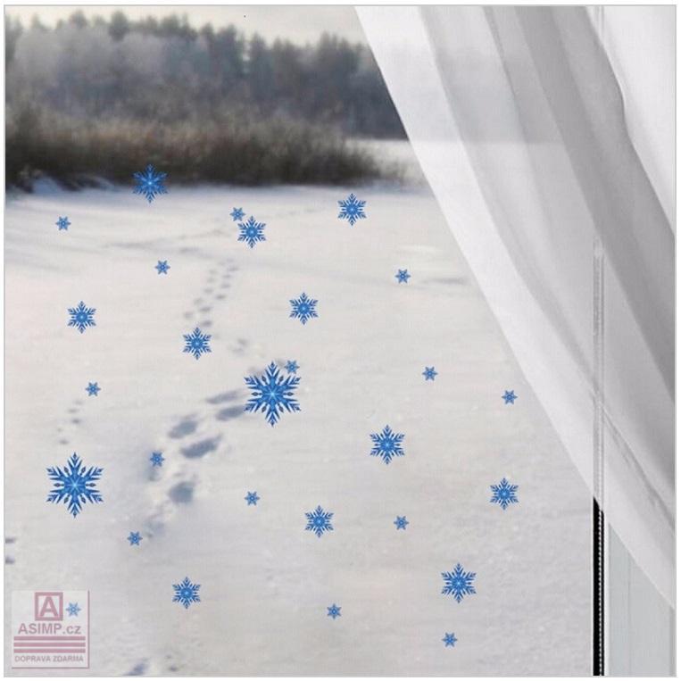 Dekorace na okno - sněhové vločky
