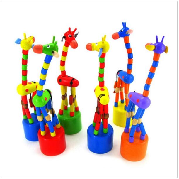Dřevěná edukační žirafa