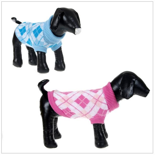 Pletený psí obleček
