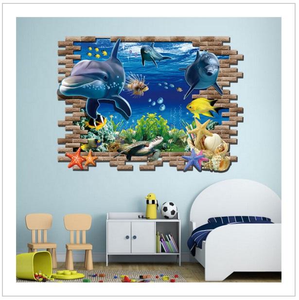 Samolepka na zeď - Delfín