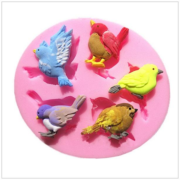 Cukrářská silikonová forma - Ptáčci
