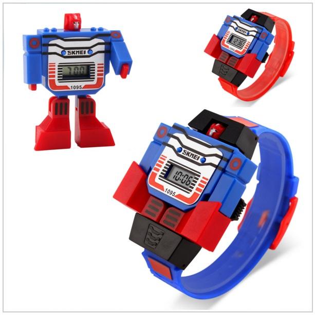 Dětské digitální hodinky - Skládací robot