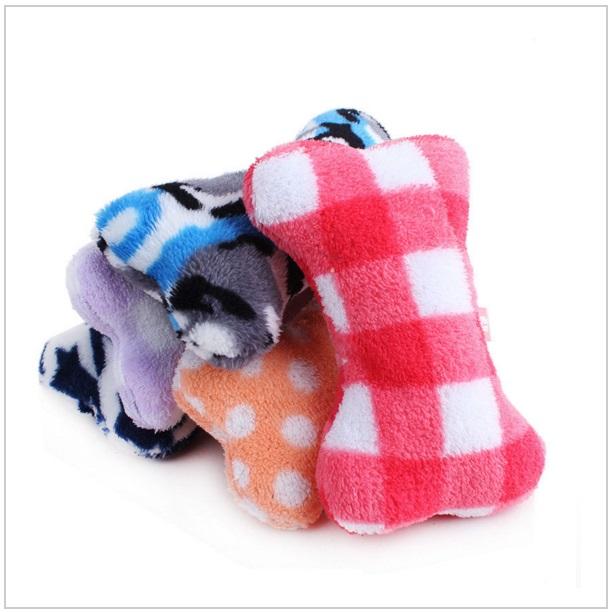 Plyšová hračka pro psy - kost