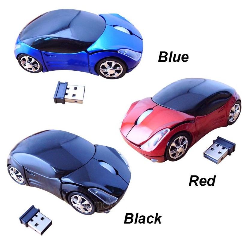 Bezdrátová myš - autíčko