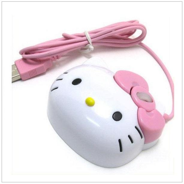 Kabelová myš - Hello Kitty