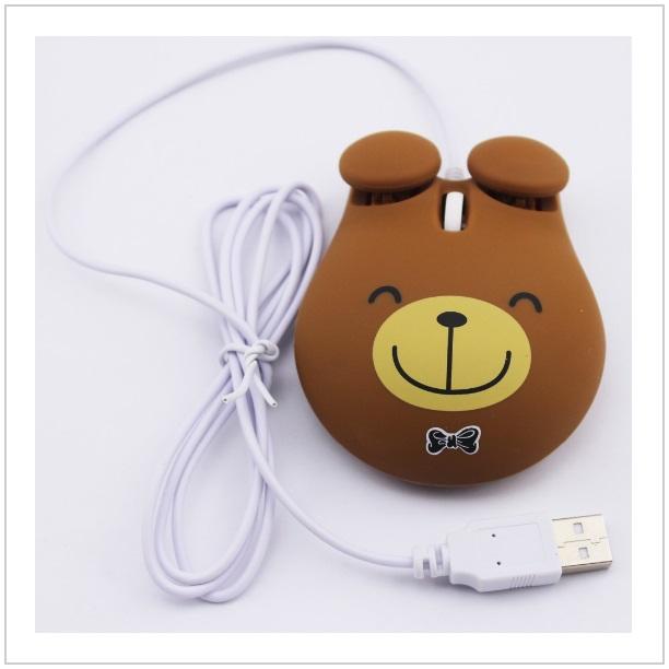Optická kabelová myš - medvídek
