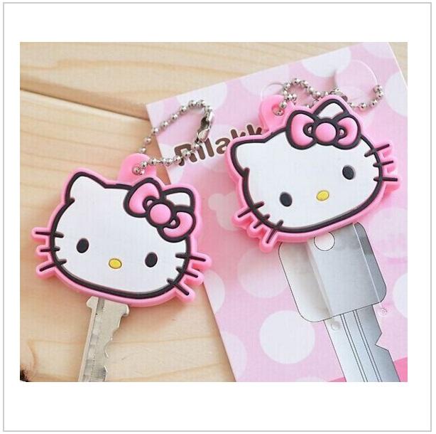 Silikonové pouzdro na klíč - Hello Kitty