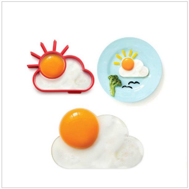 Silikonová formička na vajíčka - Slunce & mrak