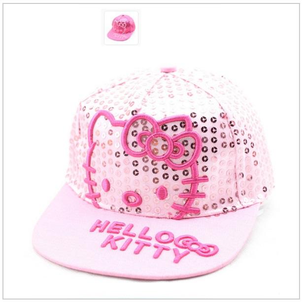Dětská čepice Hello Kitty - bílá