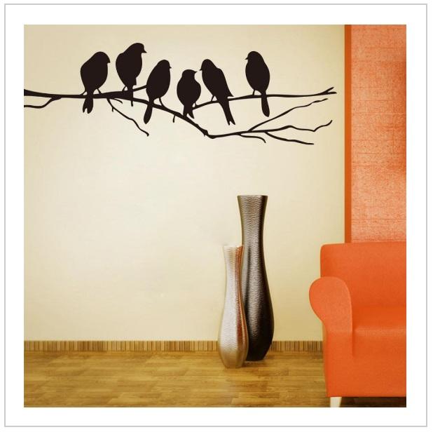 Dekorativní samolepka na zeď - Ptáci
