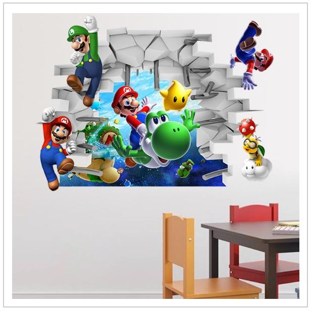 Dekorativní samolepka na zeď - Super Mario