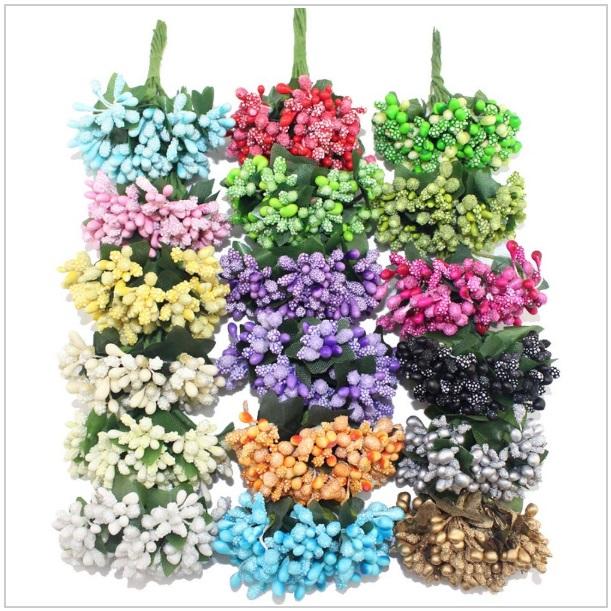 Dekorativní umělé květiny (12 ks)