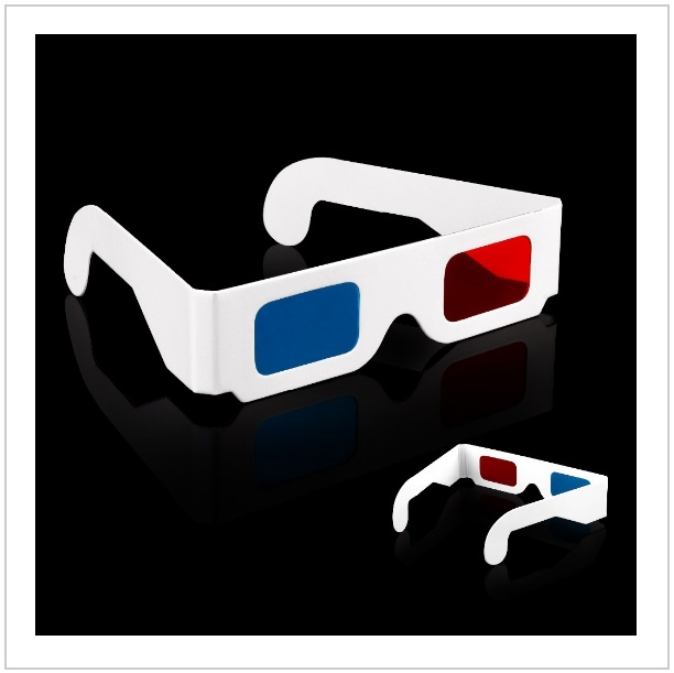 Papírové 3D brýle (2 ks)