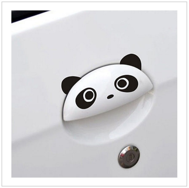 Samolepka na auto - Panda (4 ks)