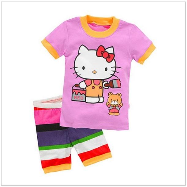 Dětské kraťasy & tričko - Hello Kitty