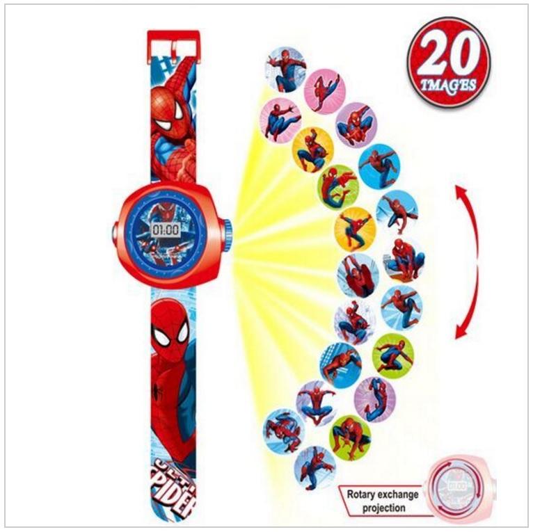 Dětské projekční hodinky - Spiderman