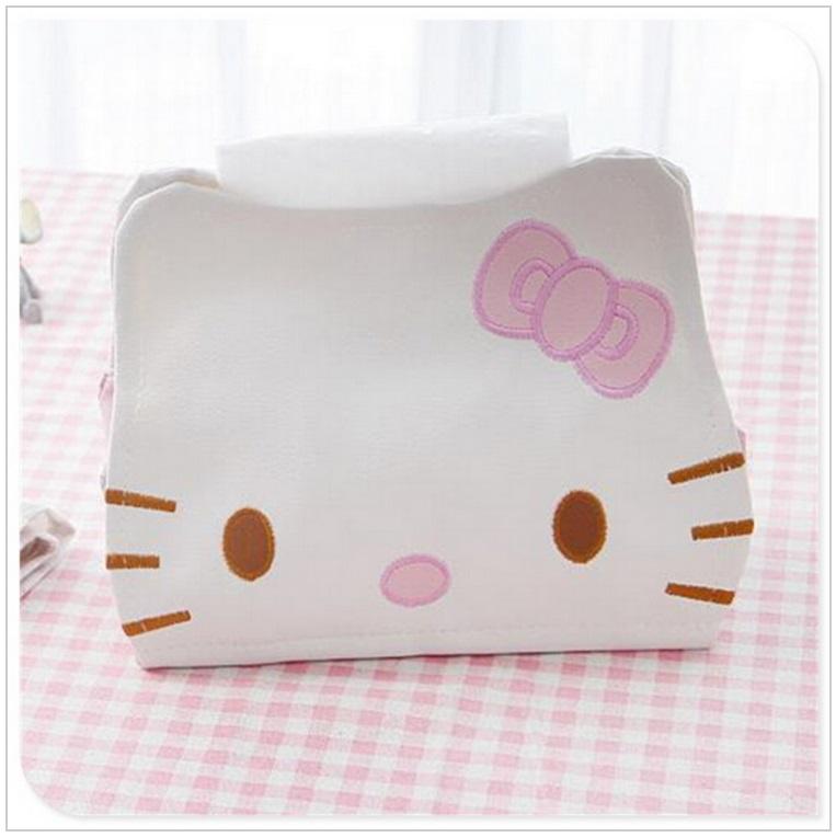Kožené pouzdro na vlhčené ubrousky - Hello Kitty