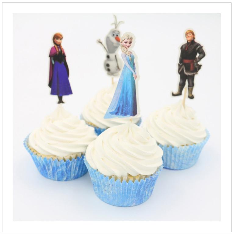 Dekorace na dorty - Ledové Království (24 ks)