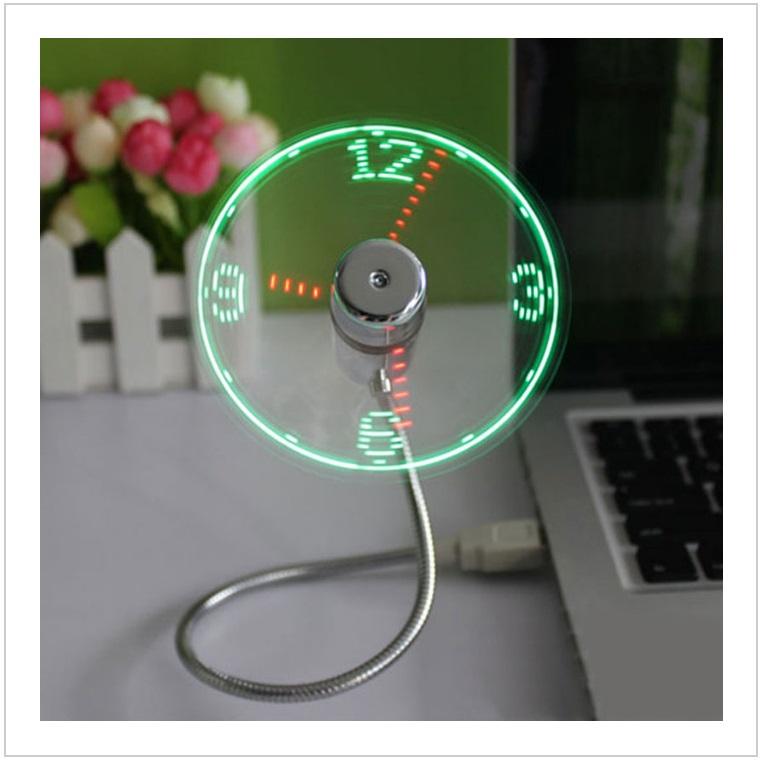 USB LED hodiny s ventilátorem