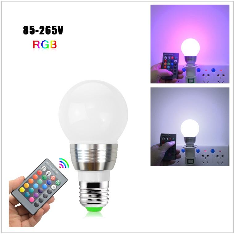 Dekorativní žárovka s dálkovým ovládáním měnící 16 barev