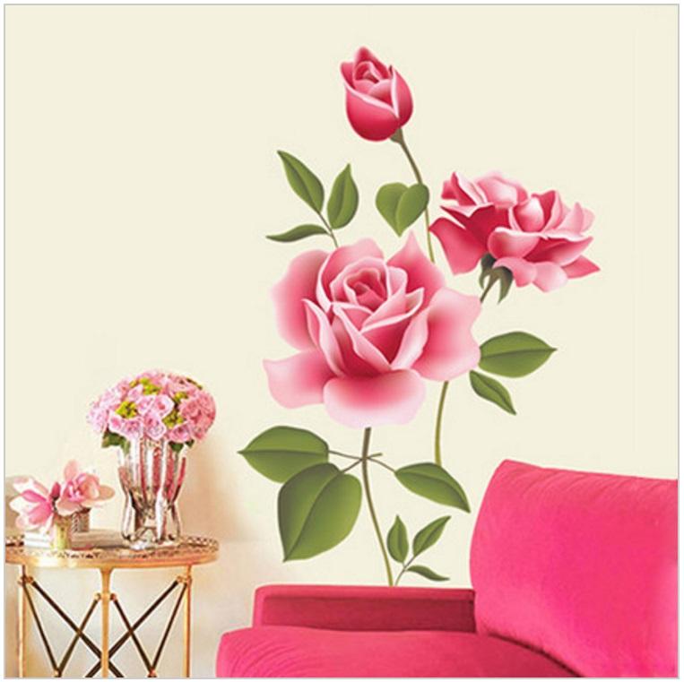 Dekorace na zeď - Růže