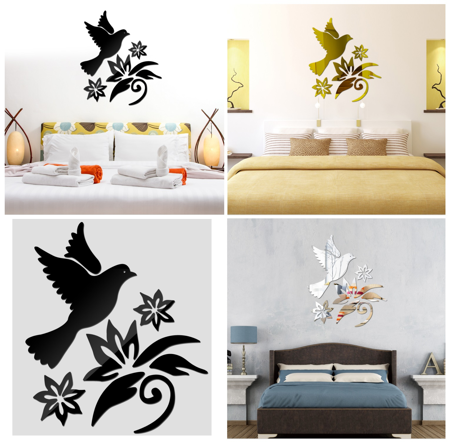 Samolepící dekorace na zeď - Pták