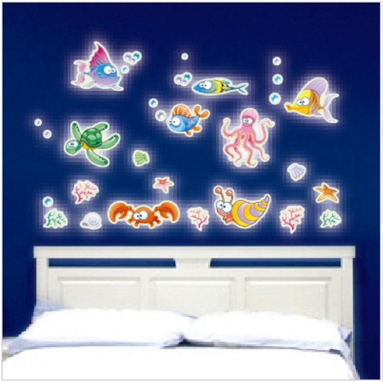 Svítící samolepky na zeď