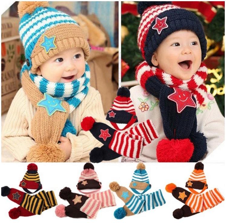 Dětská čepice & šála