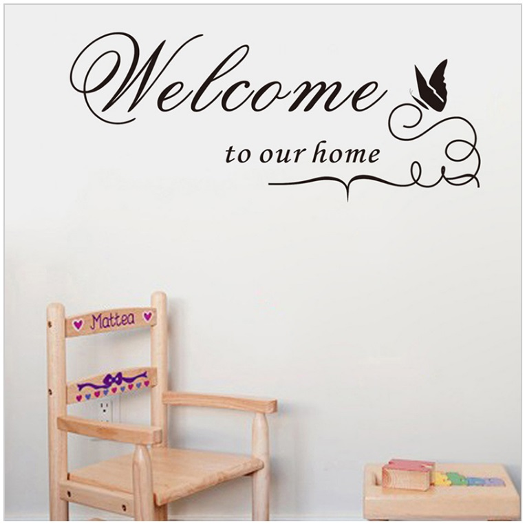 Samolepka na zeď - Welcome