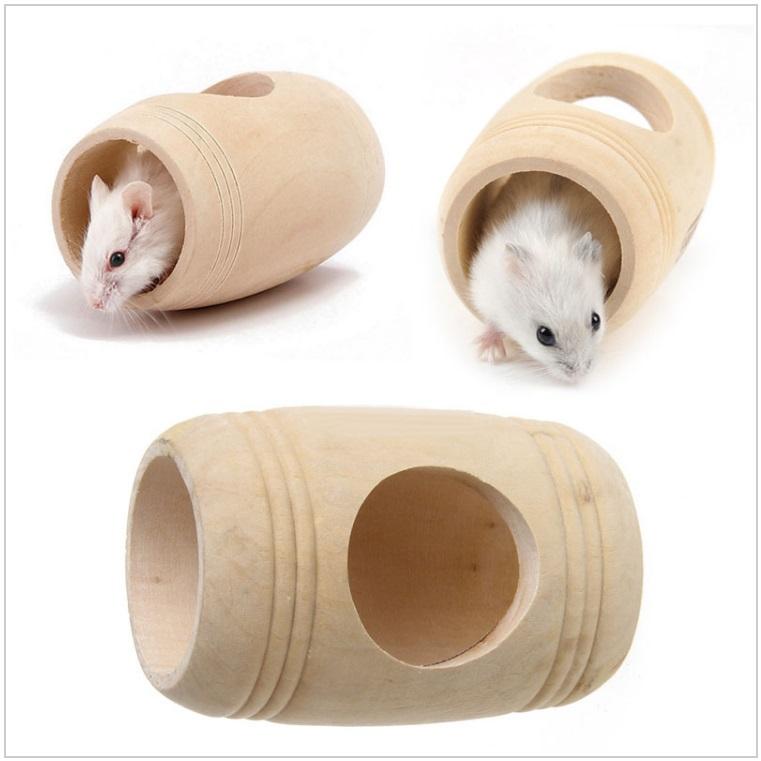 Dřevěný domeček pro křečky, myši ...