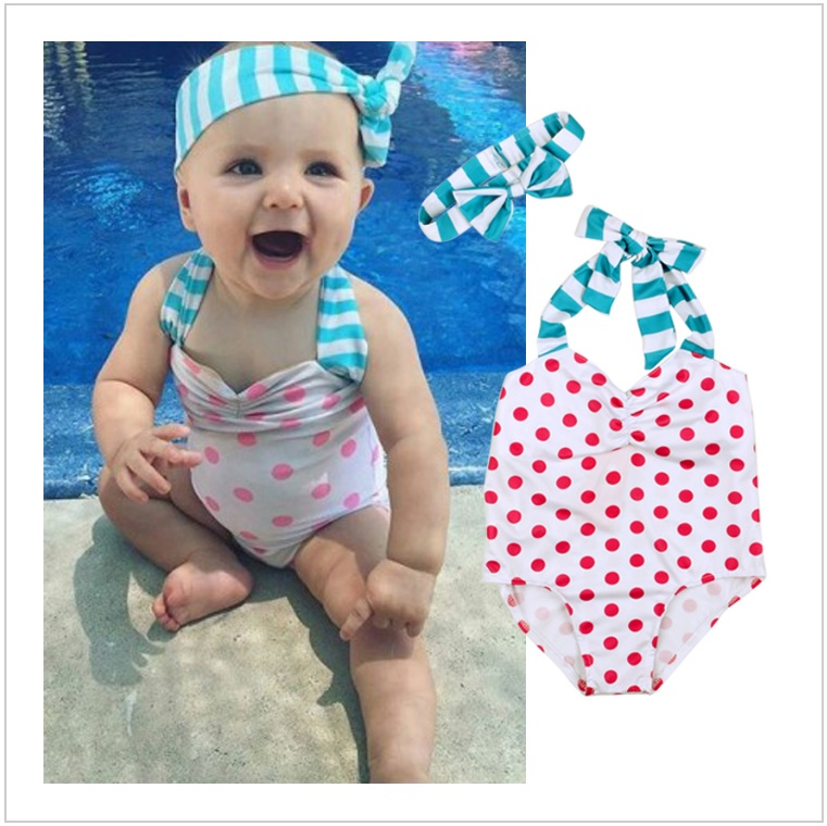 Dětské plavky s čelenkou