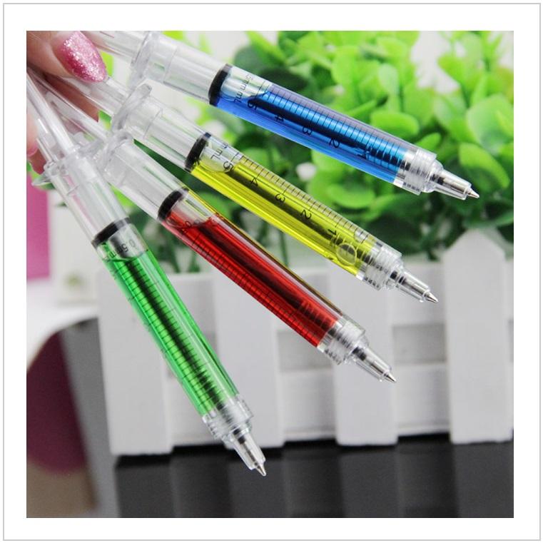 Kuličkové pero - injekční stříkačka (4 ks / barvy)