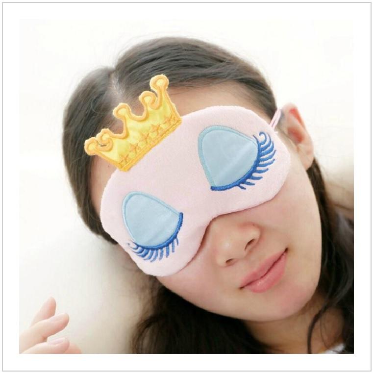 Oční maska na spaní - princezna (růžová)