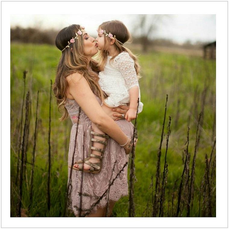 Květinová čelenka pro maminku a dítě